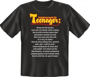 Fun T-Shirt - Verhaltensregeln für Teenager