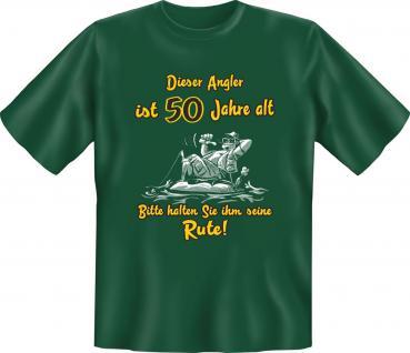 Angel T-Shirt - 50 Jahre Angler mit Rute