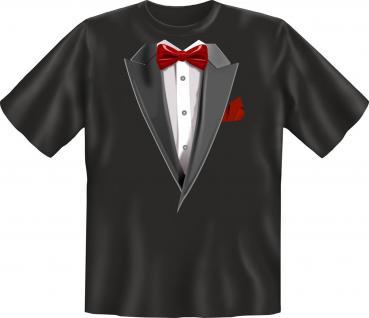 Smoking T-Shirt - Fliege rot