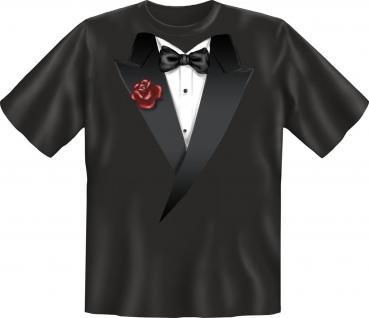 Smoking T-Shirt - Fliege schwarz
