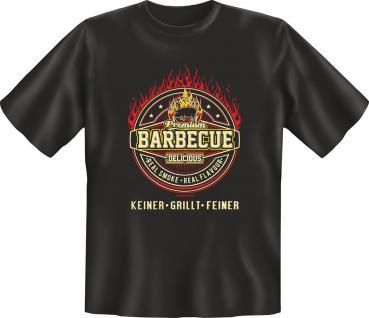 Premium BBQ T-Shirt - Keiner grillt feiner - Vorschau