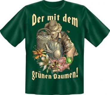 Geburtstag T-Shirt - Der mit dem grünen Daumen