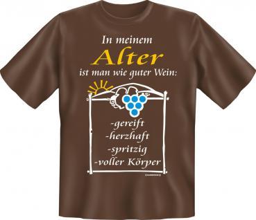Geburtstag T-Shirt - Im Alter wie guter Wein - Vorschau