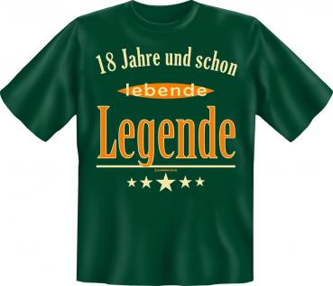 Geburtstag T-Shirt - 18 Jahre lebende Legende