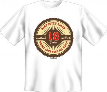 Geburtstag T-Shirt - Endlich 18 Jahre