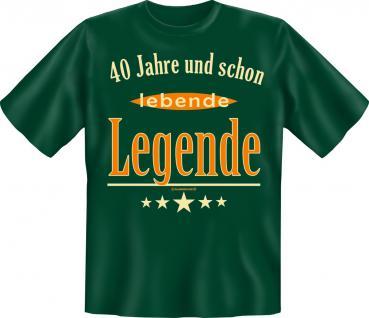 Geburtstag T-Shirt - 40 Jahre lebende Legende - Vorschau