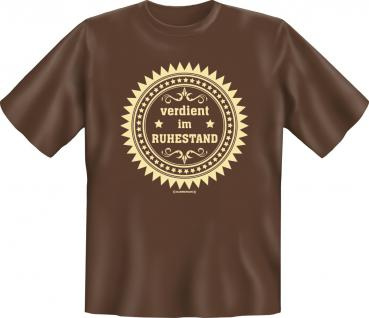 Geburtstag T-Shirt - Verdient im Ruhestand