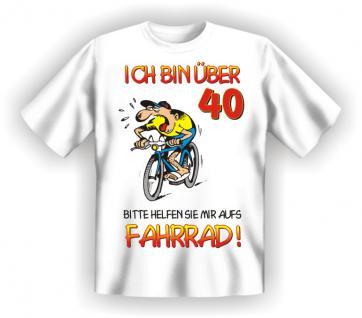 Geburtstag T-Shirt - 40 Jahre Fahrrad