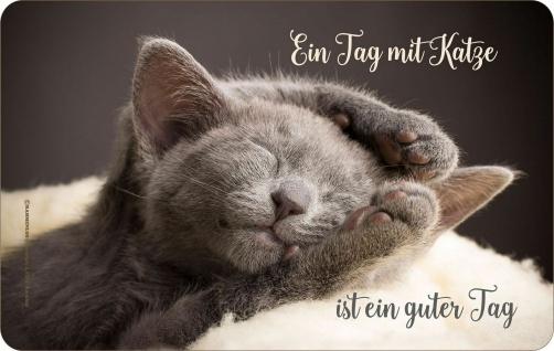 Frühstücksbrettchen - Ein Tag mit Katze - Geburtstag Geschenk Fun Brettchen
