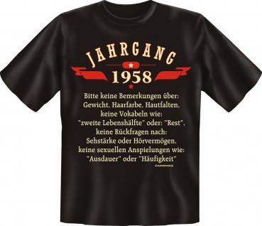 Geburtstag T-Shirt - Jahrgang 1958 - Vorschau