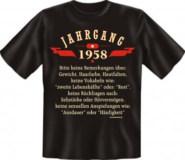 Geburtstag T-Shirt - Jahrgang 1958