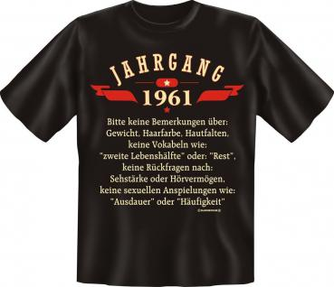 Geburtstag T-Shirt - Jahrgang 1961