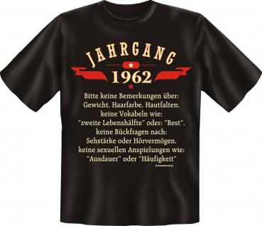 Geburtstag T-Shirt - Jahrgang 1962