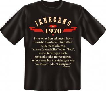 Geburtstag T-Shirt - Jahrgang 1970