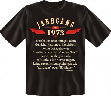 Geburtstag T-Shirt - Jahrgang 1973