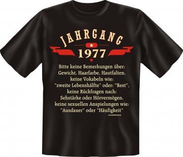 Geburtstag T-Shirt - Jahrgang 1977 - Vorschau