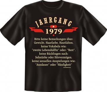 Geburtstag T-Shirt - Jahrgang 1979