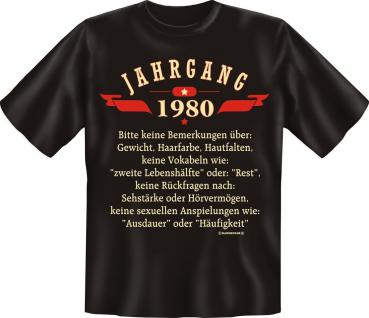 Geburtstag T-Shirt - Jahrgang 1980