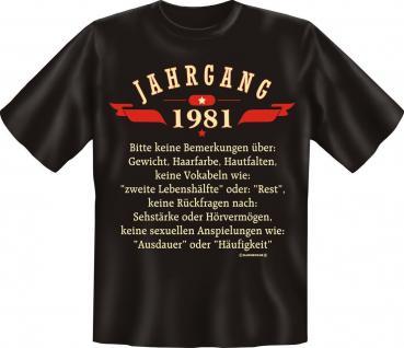 Geburtstag T-Shirt - Jahrgang 1981