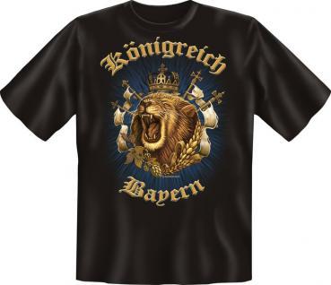 Oktoberfest T-Shirt - Königreich Bayern Löwe
