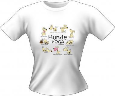 Lady T-Shirt - Hunde Yoga - Vorschau