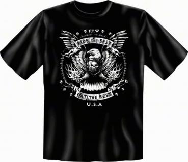 geil bedruckte Biker T-Shirts Shirt - Ride the Best - Eat the Rest - Geschenk