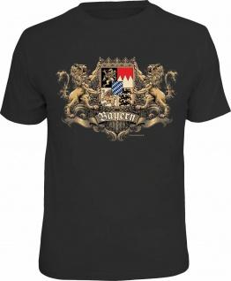 Herren T-Shirt - Löwen Wappen Bayern - Fun Shirt Männer Geschenk