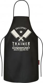 lustige Grillschürze - Grillsport Trainer - Kochschürzen Männer Geschenk