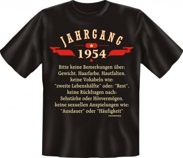 Geburtstag T-Shirt - Jahrgang 1954