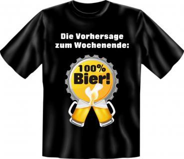 T-Shirt - Wochenende 100% Bier - Vorschau