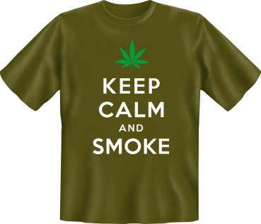T-Shirt - Keep Calm and smoke - Vorschau