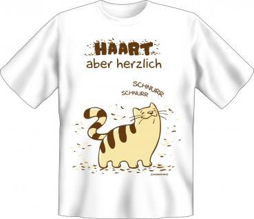 T-Shirt - Katze haart - Vorschau