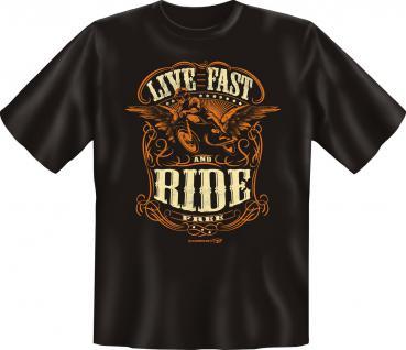 Biker T-Shirt - Live Fast Ride Free
