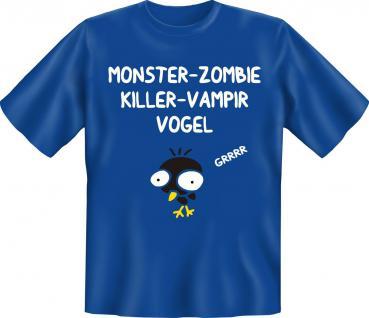 T-Shirt - Monster Zombie Killer Vampir Vogel