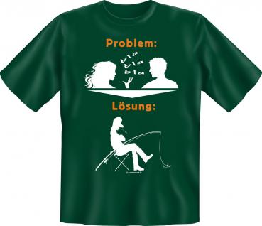 Angler T-Shirt - Problem Lösung Angeln Angel Shirt