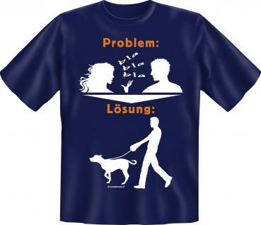 T-Shirt - Problem Lösung Hund Gassi