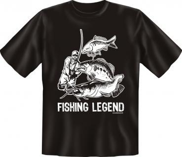 Angler T-Shirt - Fishing Legend Angel Shirt