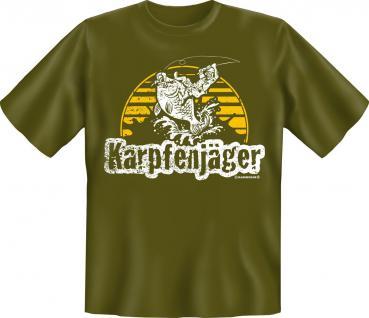 Angler T-Shirt - Karpfen Jäger Angel Shirt