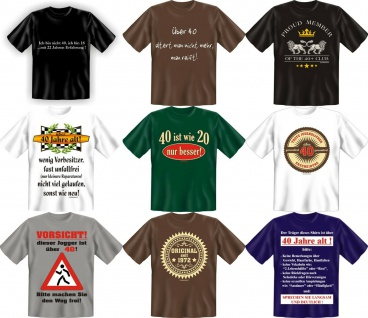 Fun Collection T-Shirt 40 Jahre Vierzig Shirt 40ter Geburtstag Geschenk bedruckt
