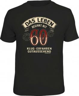 lustiges Geburtstag T-Shirt - Das Leben beginnt mit 60 Herren Shirt Geschenk