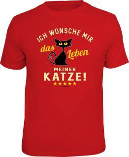 Fun T-Shirt Das Leben meiner Katze Shirt Geschenk geil bedruckt