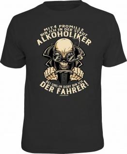 Fun T-Shirt - Der Fahrer mit 4 Promille - Männer Geschenke Shirts 4 Heroes