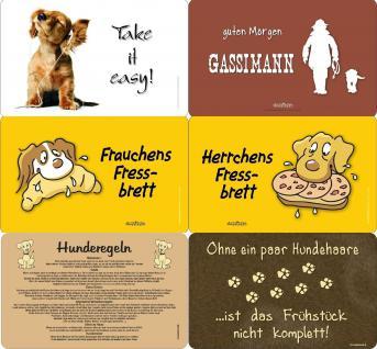 Fun Collection Frühstücksbrettchen Hund Hundefreund Brettchen Auswahl bedruckt