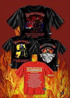 Fun Collection T-Shirt Feuerwehr Firefighter FFW Shirt Geschenk Auswahl bedruckt