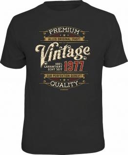 lustiges Geburtstag T-Shirt - 100% Premium Vintage seit 1977 Fun Shirt Geschenk