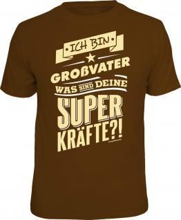 Geburtstag T-Shirt Großvater und Superkräfte Vatertag Shirt Geschenk bedruckt