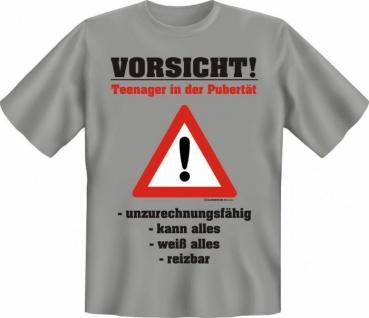 geil bedruckte Fun T-Shirts T Shirt - Vorsicht Teenager - Geburtstag Geschenk