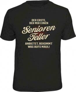 Geburtstag T-Shirt - Seniorenteller aufs Maul - Sprüche T Shirt Männer Geschenk