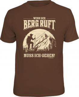 Bergsteiger T-Shirt Wenn der Berg ruft Kletter Shirt 4 Heroes Geschenk bedruckt