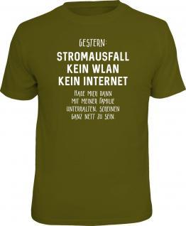 Fun T-Shirt Stromausfall mit ganz netter Familie Shirt Geschenk geil bedruckt - Vorschau